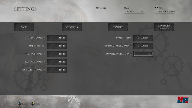 Grafik-Optionen der PC-Version von Ryse, Teil 2