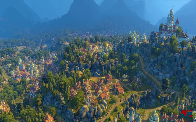 Malerischer Ausblick: Bis das eigene Königreich so aussieht, vergehen bestimmt einige Wochen oder gar Monate.