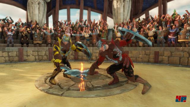 Gladiatoren statt Krieg: Sportliche Helden gewinnen auch Sympathien konkurrierender Siedler.