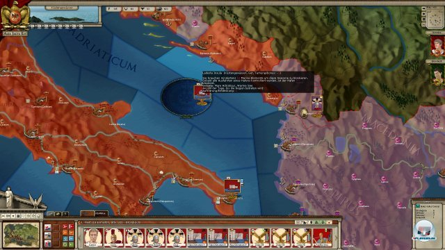 Caesar besetzt kurz mal Rom. Ein schwerer Schlag für Pompeius, aber noch nicht das Aus.