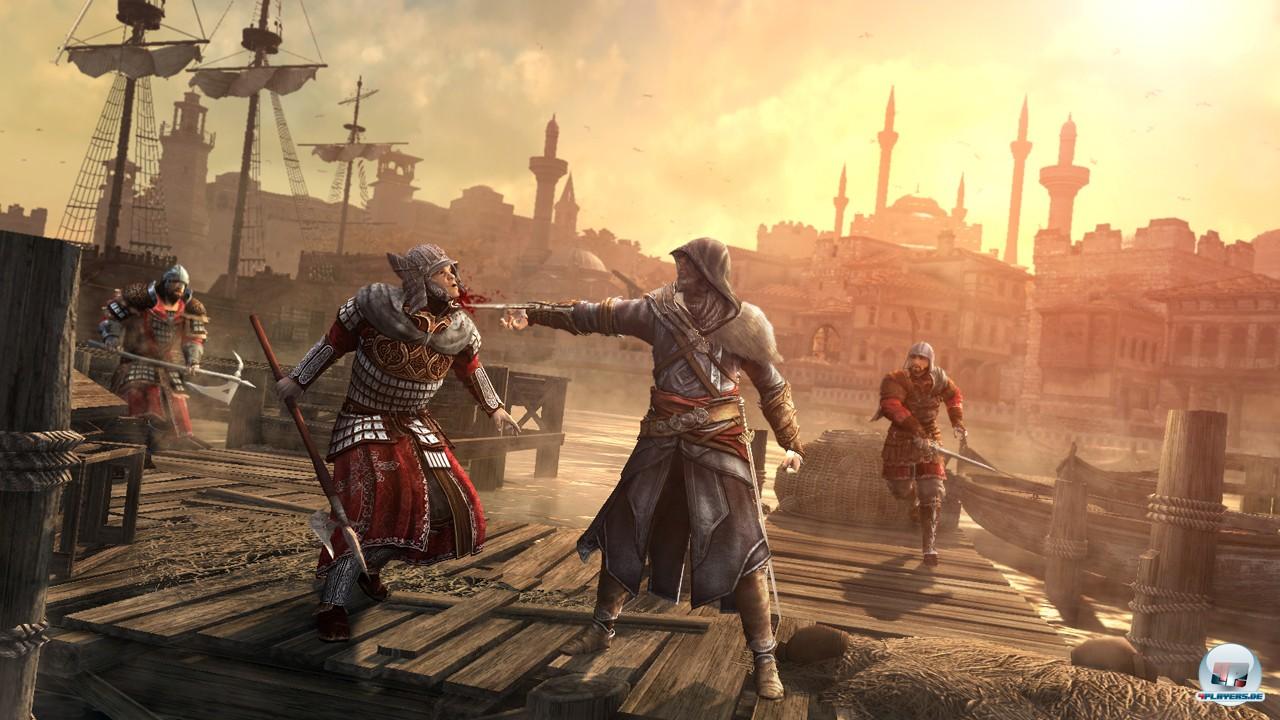 Auch diesmal muss Ezio mörderische Talente einsetzen.