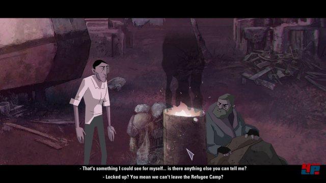 Als sein Gastgeber sich plötzlich mit seinem kranken Sohn einschließt, erkundet Michael das Lager auf eigene Faust.