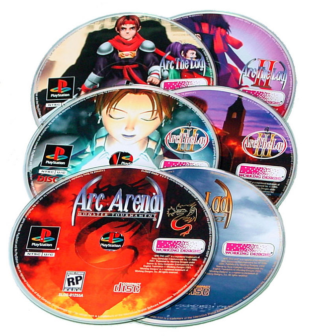 Alle sechs CDs in der Box: Arc Arena und Making of Arc the Lad-Collection inklusive.