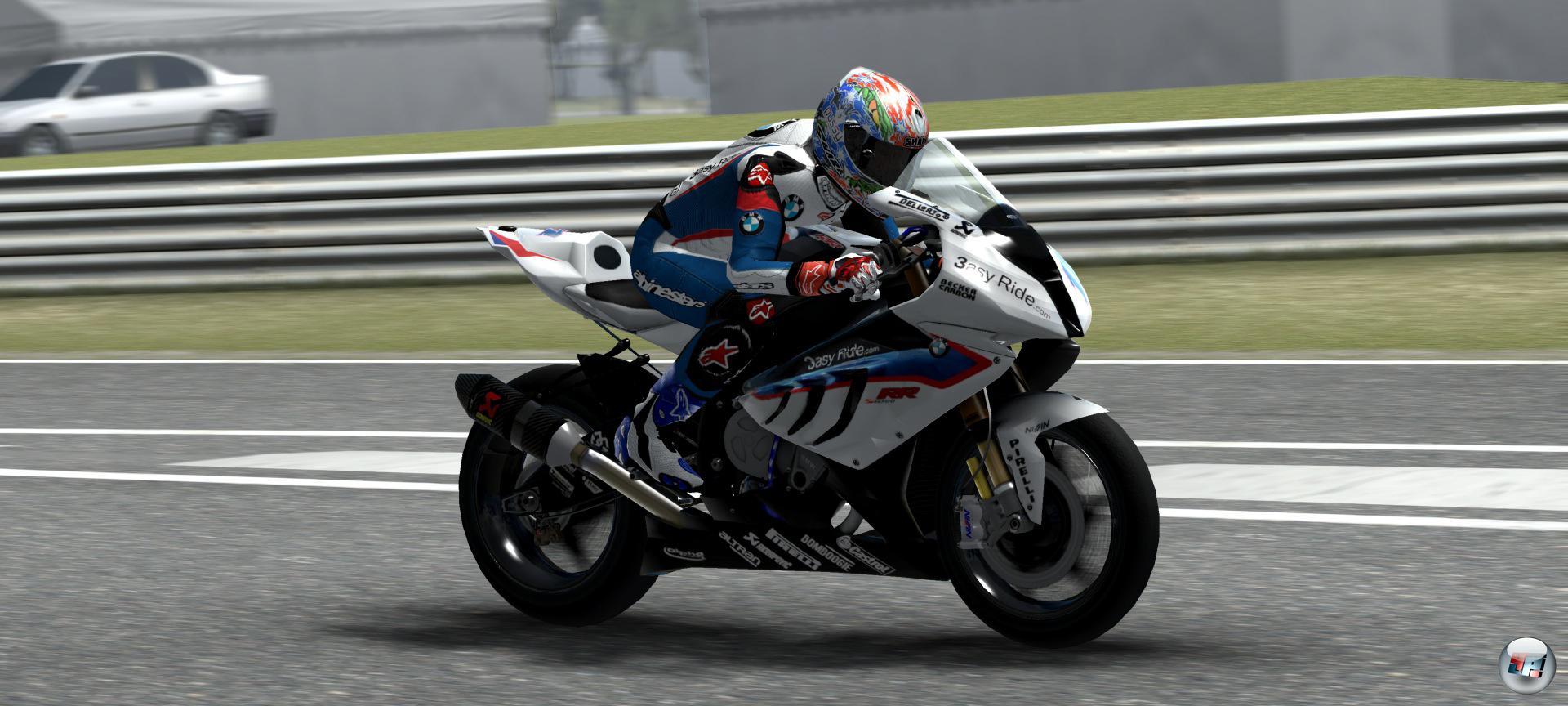 Motorräder und Fahrer sehen gut aus - bei den Kulissen hat Milestone an Details gespart.