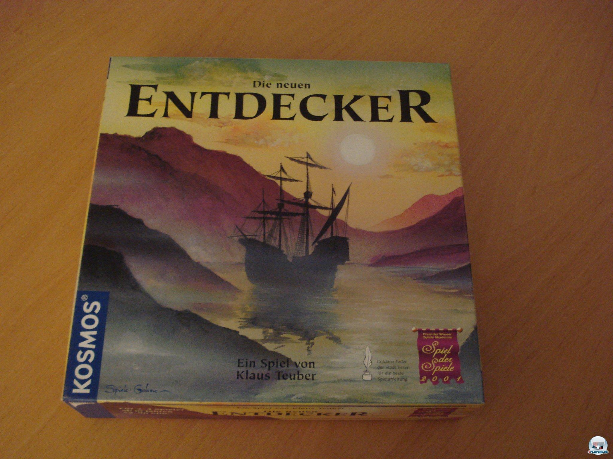 """""""Die neuen Entdecker"""" für zwei bis vier Spieler erschien 2001 bei Kosmsos und kostet knapp 35 Euro."""