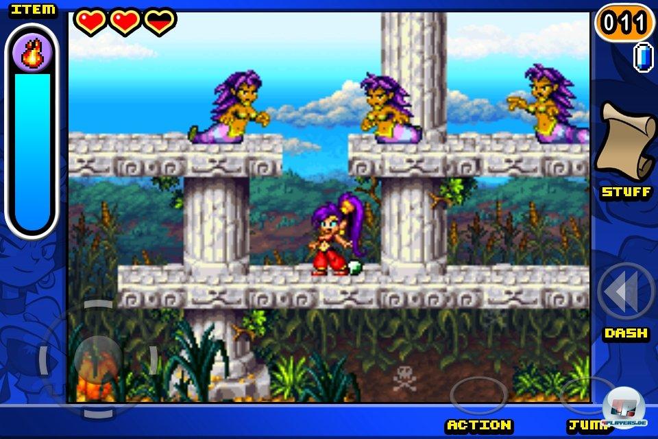 Pixelfans schlackern mit den Ohren: Shantae ist ein Musterbeispiel für klassisches 16 Bit-Grafikdesign.