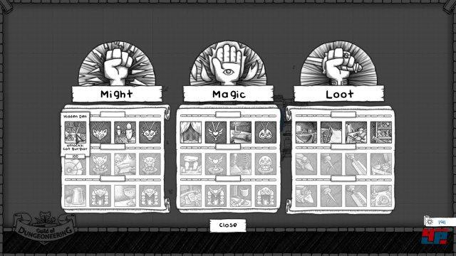 Über den Ausbau der Gilde lockt man neue Helden an oder kann neue Gegenstände freischalten.
