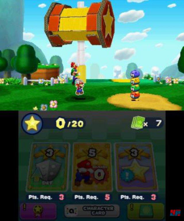 Wenn Paper Mario die grobe Kelle auspackt, haben die Feinde das nachsehen.