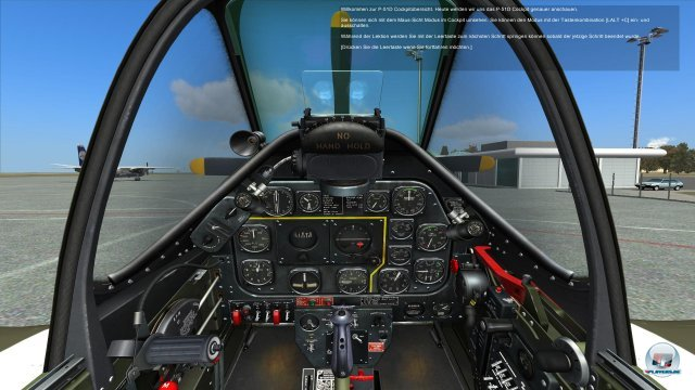 Highlight: Das voll bedienbare Cockpit der P-51D Mustang
