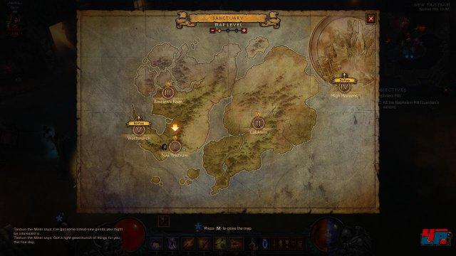 Auf den Karten seht ihr, welche Bounty-Quests ihr noch nicht gemacht habt