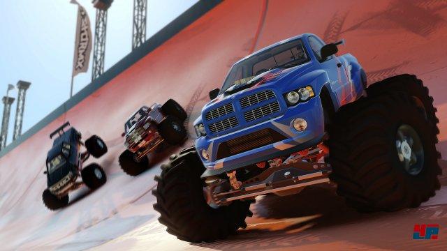 Monster Trucks, Dragster und Driftkarren erg�nzen den Fuhrpark.