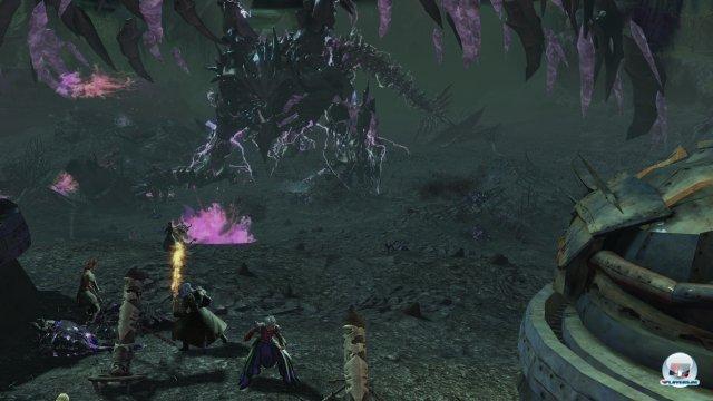 Die Drachen sind eindrucksvolle Erscheinungen, sowohl am Ende einer Kette dynamischer Events wie hier...
