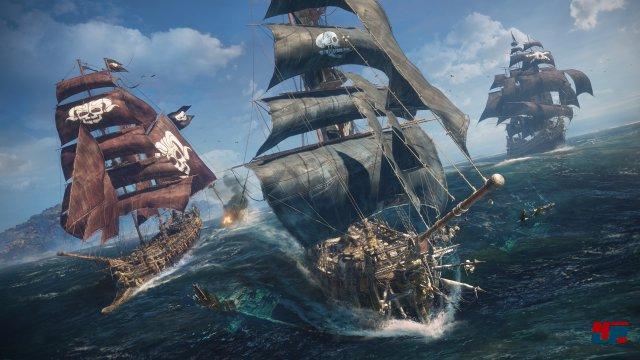 Zehn Spieler waren in den Gewässern der E3-Demo unterwegs, konnten sich verbünden, gegeneinander kämpfen und sich ignorieren.