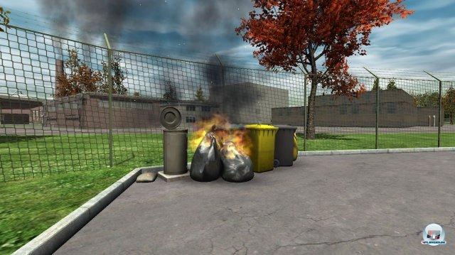 """""""Spektakuläre"""" Mülleimerbrände wie jener gehören zunächst zu eurem Tagesgeschäft."""