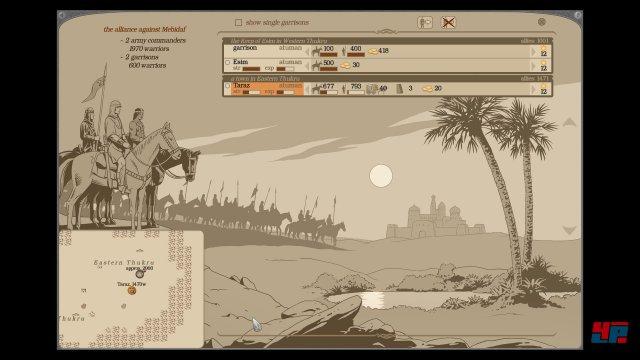 Die orientalisch anmutende Fantasywelt wird von eleganten Zeichnungen getragen.