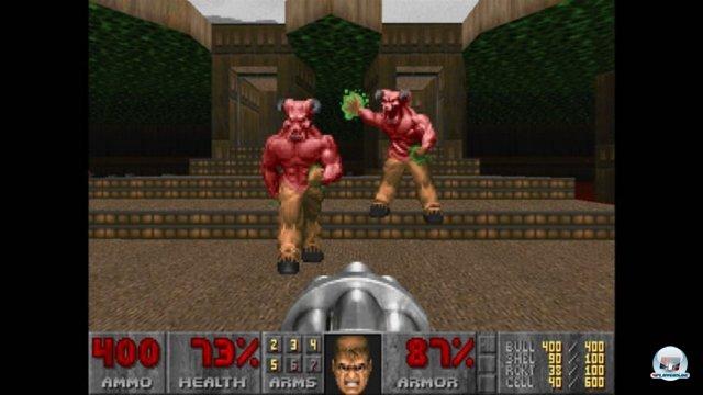Dank der Bemühungen von Bethesda ist Doom mittlerweile nicht mehr indiziert und somit offiziell auch in Deutschland auf dem XBLA-Marktplatz erhältlich.