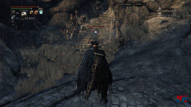 From Software empfiehlt Level 65, aber man kann theoretisch sofort in das neue Gebiet. Screenshot - Bloodborne (PlayStation4) 92516812
