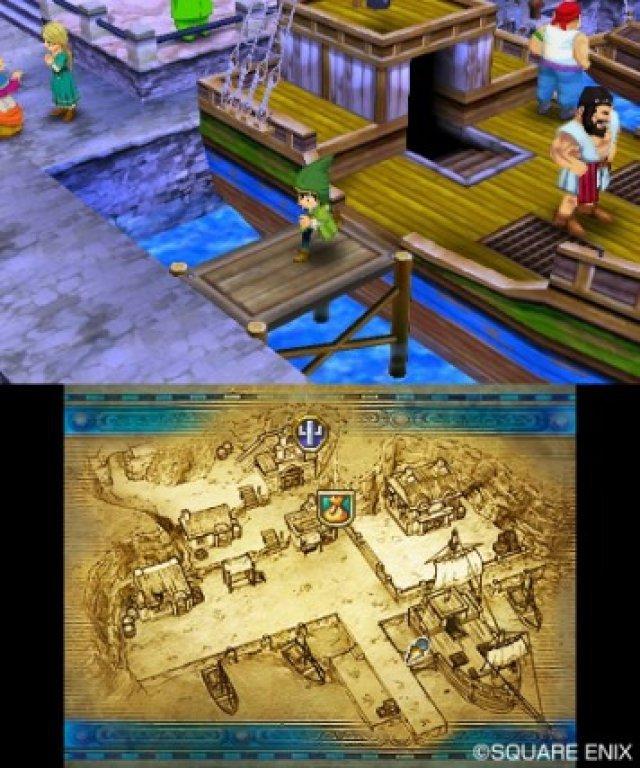 Für das 3DS-Remake wurde die Darstellung komplett auf 3D umgestellt und auf einen Bildschirm reduziert.