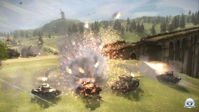 Die Free-to-play-Gefechte hinterlassen auf Konsole einen guten Eindruck.