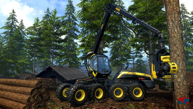 Auch Holz darf in Norwegen gefällt und verarbeitet werden.