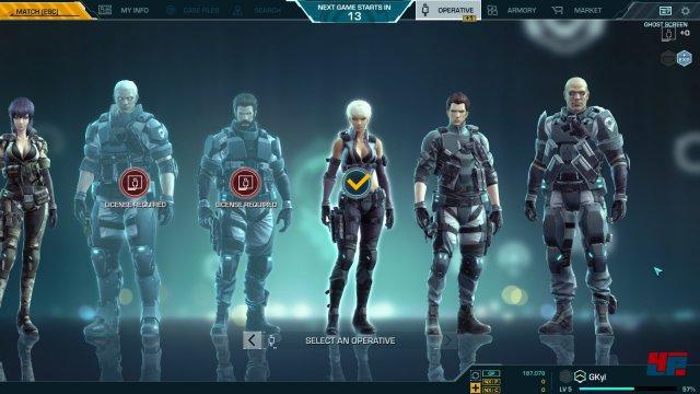 Wer die Wahl hat: Alle Agenten ziehen mit unterschiedlichen Fähigkeiten in den Kampf.