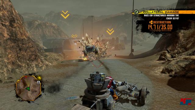 Wuchtige Explosionen untermauern den martialischen Eindruck. Red Faction: Guerrilla reiht sich heute noch nahtlos neben Spielen wie Just Cause ein.