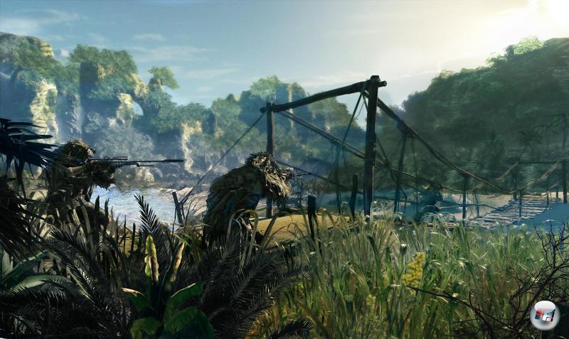 Die Chrome Engine 4 erschafft eine glaubwürdige Inselwelt mit dichter Vegetation, aber leider auch mit häufigen Ruckeleinlagen.