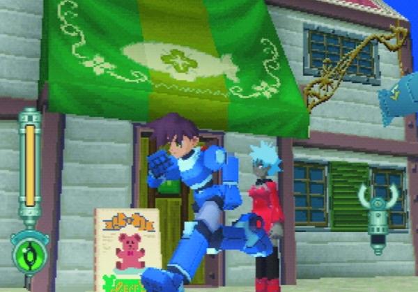 Der dritte Ausflug der Serie war das 1997er Mega Man Legends (hier und da auch als �Mega Man DASH� oder auch �Mega Man Neo� bekannt), das sich auf der PlayStation v�llig vom 2D-Korsett l�ste und als 3D-Action-Adventure pr�sentierte. Und damit auch viele Spieler verwirrte, zumindest anf�nglich - was vielleicht auch an Figurennamen wie �Tron Bonne� und �Rock Volnutt� lag. Nach drei Teilen war im Jahre 2000 vorl�ufig Schluss mit den Legenden, auch wenn Keiji Inafune nach wie vor felsenfest schw�rt, dass er als N�chstes am liebsten einen neuen Teil produzieren w�rde, idealerweise mit dem Lost Planet-3D-System - immerhin wurde auf der letzten Tokyo Game Show ein frisches Legends f�r japanische Handys enth�llt. 1734158
