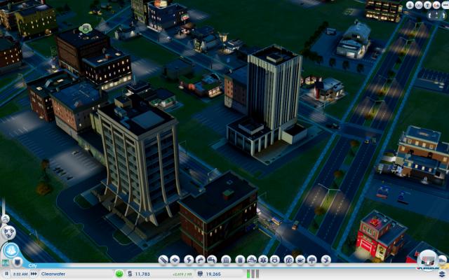 Gebiete, die von zufriedenen Sims bewohnt werden, können zusammenwachsen.
