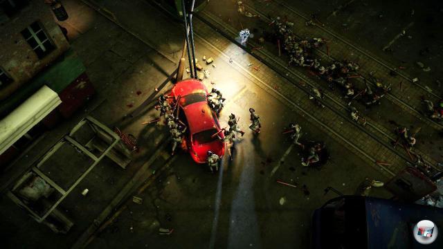 Alarmanlagen an Autos ausl�sen lohnt sich: Es lockt die Zombies an.
