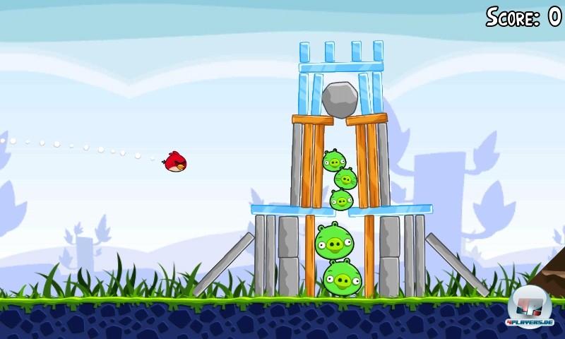 Da fliegt der Vogel, da zittert das Schwein: Angry Birds ist schon jetzt ein Klassiker im Bereich der mobilen Puzzler.