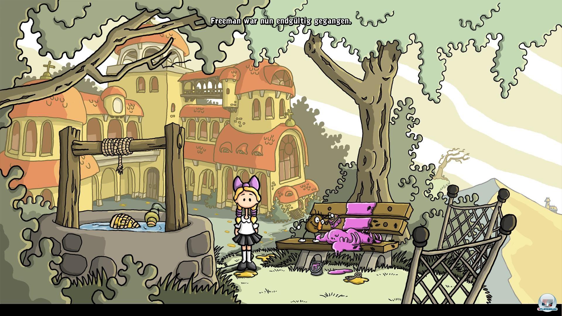 Hurrah, die lustigen kleinen Zensur-Gnome! Die kartoffelförmigen Freunde aus Lillis Unterbewusstsein malen alles Unangenehme rosa an und drücken ganz nebenbei das USK-Rating.