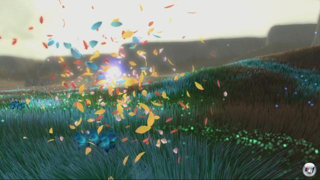 Auf der PlayStation 4 steuert sich Flower mit dem neuen Dualshock etwas präziser.