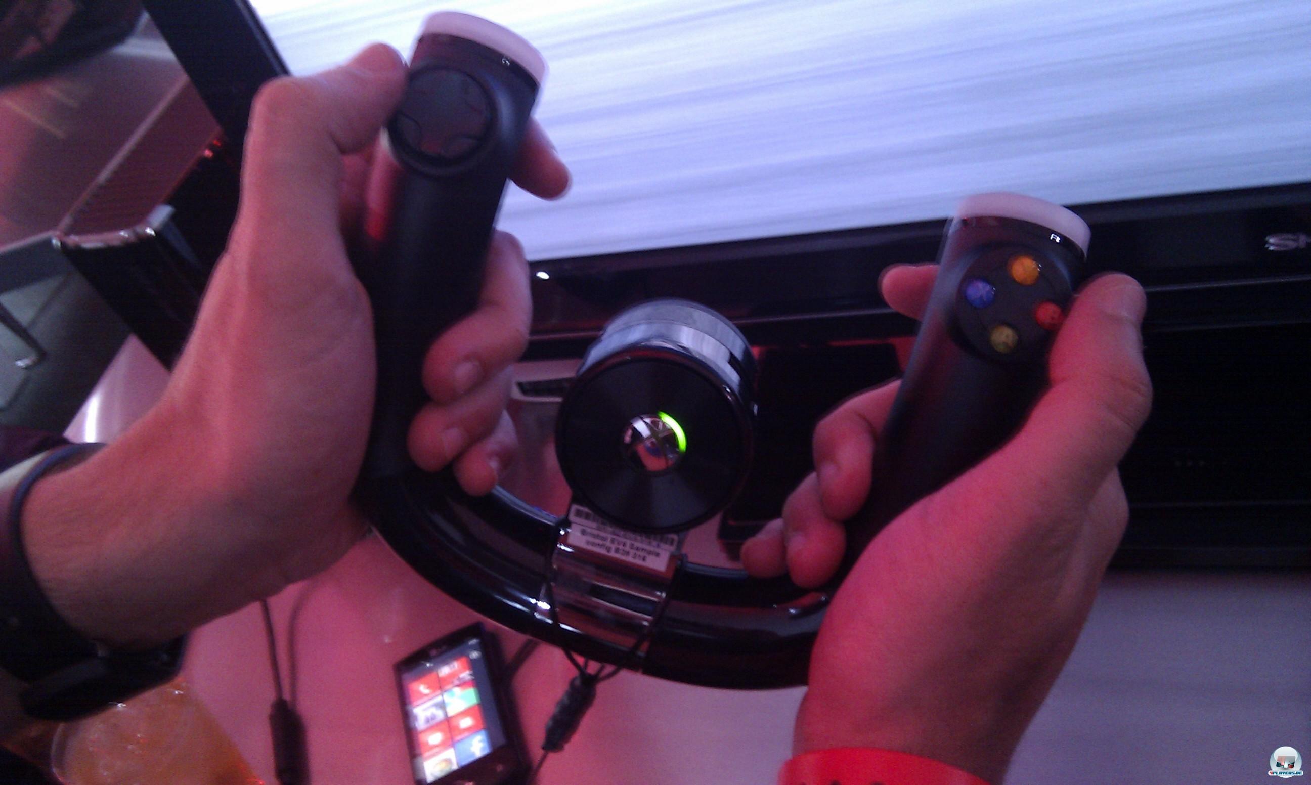 Sieht seltsam aus, aber funktioniert erstaunlich gut: Fanatects Wireless Speed Wheel-Controller.