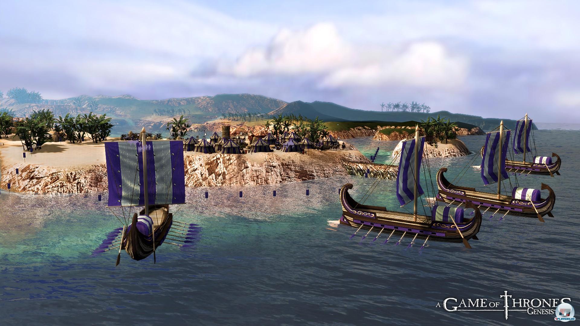 Die Kampagne beginnt mit der Landung Nymerias, deren Boote griechisch aussehen.