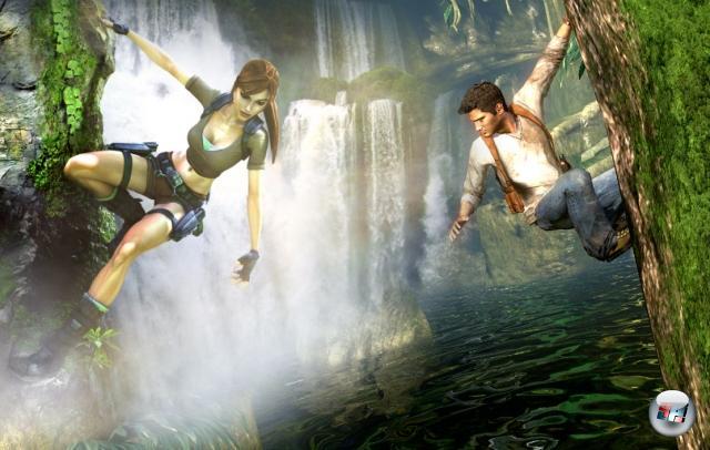 Runde Vier: Uncharted vs. Tomb Raider<br><br>Zugegebenermaßen: Die Rivalität ist sehr frisch. Und Frollein Croft hat mindestens zwei Argumente auf ihrer Seite, gegen die Nathan Drake einfach nicht ankommen kann. Aber dennoch lässt sich kaum von der Hand weisen, dass Uncharted all das richtig und super macht, was Tomb Raider trotz der guten letzten Teile nach wie vor falsch macht. Prognose der 4P-GZSZ-Experten: Spätestens in Uncharted 3 werden die beiden ein Paar. Und haben ganz schnuckelige Kinder. Die man dann kooperativ in Uncharted 4: Tombcharted steuern kann. 1778268