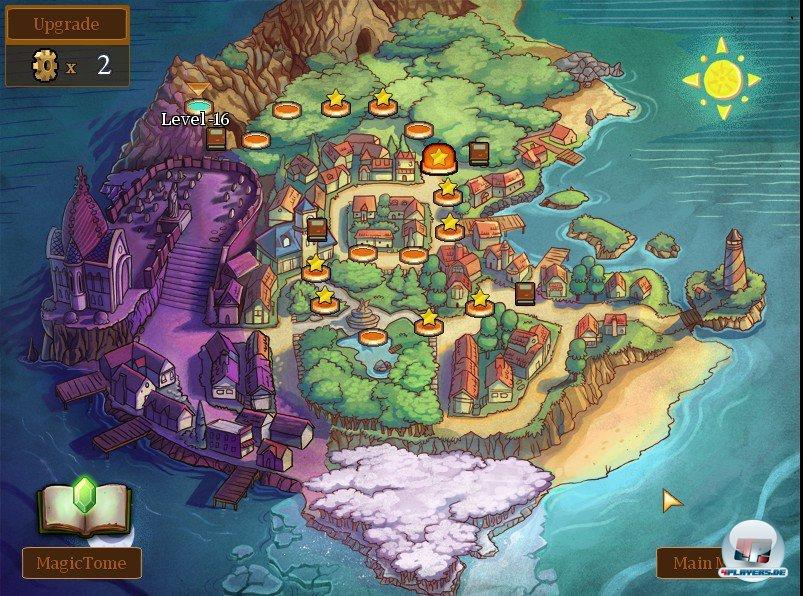 Auf dieser Karte wandert Claudia von einem Level zum nächsten: Aussuchen darf sie sich den Weg leider nicht.