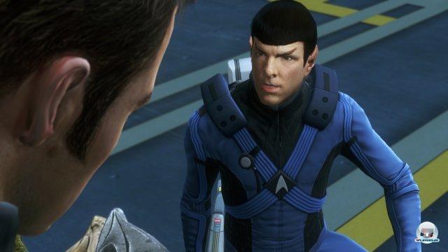 Der Spieler schl�pft in die Rolle von Spock oder Kirk.