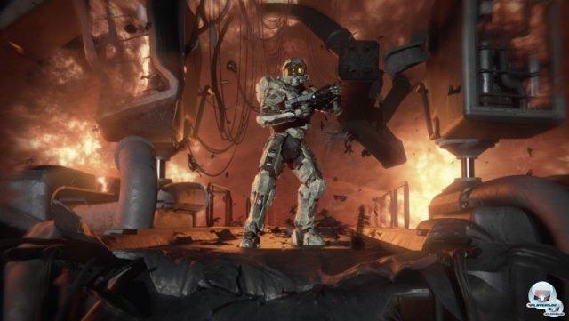 <b>Halo 4 (Xbox 360, Q4 2012)</b> <br><br>   In Zukunft kümmert sich das von Microsoft gegründete Studio 343 Industries um die Marke. Bereits das Remake des ersten Teils wurde vom Team aus Kirkland auf die Beine gestellt. Inhaltlich soll Halo 4 den Anfang einer neuen Trilogie markieren und sich wieder mehr um den Master Chief und Cortana drehen. 2288727