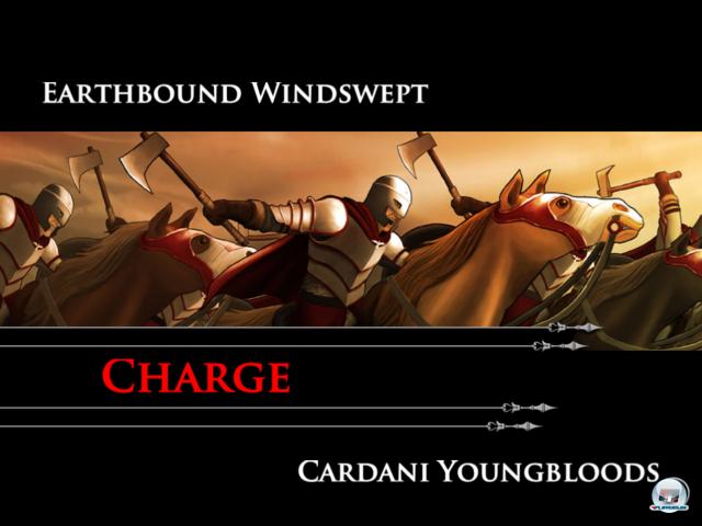 Je nach Einheitentyp und Formationsstärke werden im Kampf spezielle Manöver aktiviert.