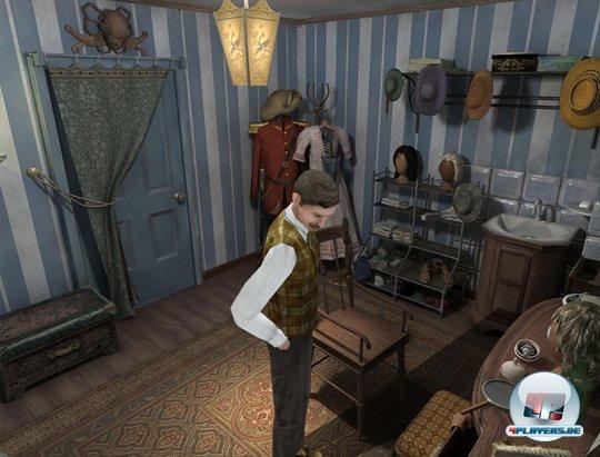 Die Garderobe und andere Räume werden wie im ersten Resident Evil meist von schräg oben eingefangen.