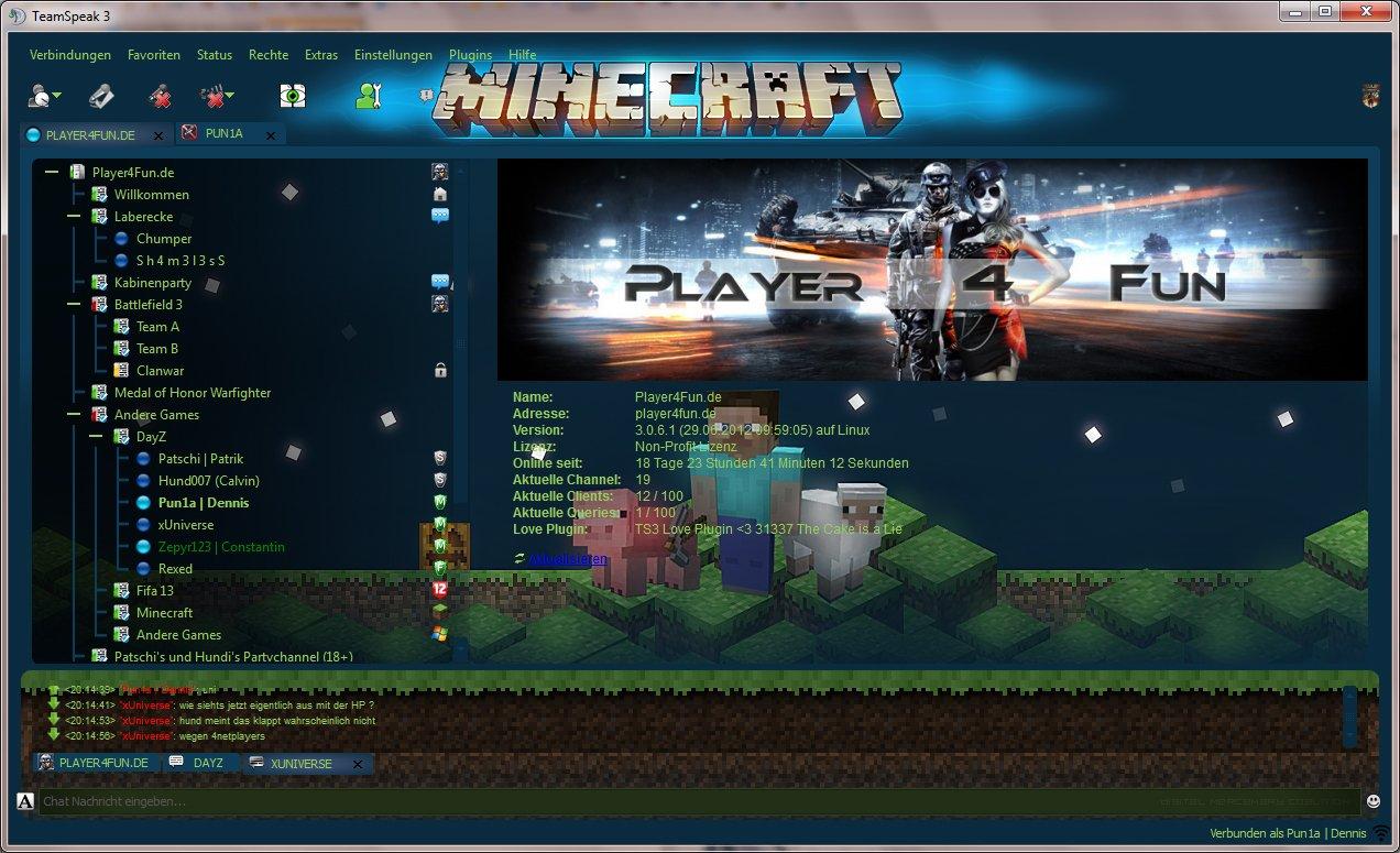 Screenshots Zu TeamSpeakde Alles Zum Spiel TeamSpeakde Playersde - Minecraft skins spiele