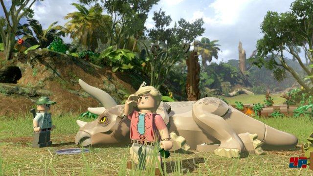 Diesem Triceratops muss wie im ersten Film geholfen werden.