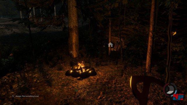 Home, Sweet Home: Feuerstelle und Unterstand sind lebenswichtig, um die ersten Tage in der Wildnis zu überstehen.