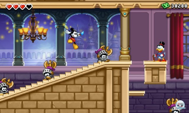 """Im magischen Schloss findet man immer wieder weitere Disney-Figuren, die vor allem für das """"Fortress""""-Bonusspiel wichtig sind."""