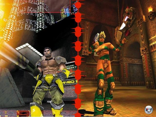<b>Unreal Tournament vs. Quake 3:</b><br><br>Der Kampf zwischen Quake 3 und Unreal Tournament begann 1999 mit einem Abstand von gerade mal zehn Tagen: UT nutzt eine verbesserte Version der Engine aus Unreal, was das Spiel verhältnismäßig bunt machte.  Zusätzlich punktete UT mit innovativen Spielmodi wie Domination oder Assault sowie für damalige Verhältnisse brillanter Bot-KI - die sich sogar vielfältig personalisieren ließ. Quake 3 ließ all diese Verspieltheit außer Acht und beschränkte sich auf das absolute Frag-Minimum - auf brillant designten Karten. Technisch war Q3 einmal mehr auf allerhöchstem Niveau: Die Verwendung von programmierbaren Shadern, gerundeten Oberflächen oder volumetrischem Nebel sorgte für laut auf den Boden krachende Kinnladen. Die offene Struktur des 3D-Systems war so populär, dass »id Tech 3« für sehr lange Zeit zu den am meisten lizenzierten Engines überhaupt gehörte - Spiele wie Call of Duty, Star Trek: Elite Force, Return to Castle Wolfenstein, Heavy Metal F.A.K.K. 2 oder Medal of Honor: Allied Assault entspringen seinen Bits. 1906513
