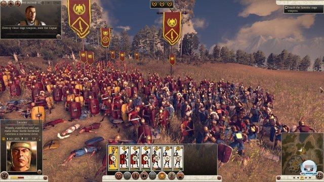 Im Gefecht kommt es noch nicht zu dem wuchtigen Hauen und Stechen, das man aus Shogun kennt. Au0erdem vermisst man einen kontrollierteren Reihenwechsel bei den Römern.