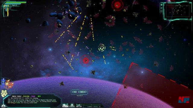 Hektisch: Die rundenbasierten Weltraumkämpfe erfordern viel Übersicht.
