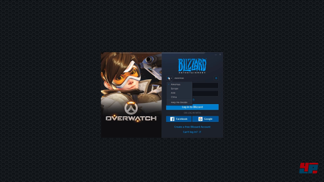 Startet man Overwatch aus der GeForce-Now-App, muss man sich nach dem Verbindungsaufbau im Battle.net einloggen.