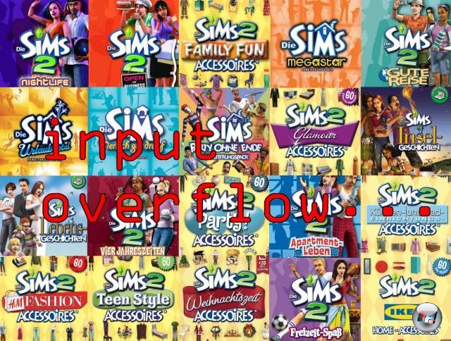 Ein Grund für den dauerhaften Erfolg dürfte nicht nur sein, dass angeblich mehr als 60% aller Sims-Spieler weiblich sind, und wir ja alle wissen, dass Frauen nichts mehr hergeben, was sie einmal in der Hand haben. Nein, der wahre Grund dürfte nicht nur in dem spaßigen Design, dem angenehmen Äußeren und den niedrigen Hardwareanforderungen liegen, sondern vor allem in der Tatsache, dass Maxis und EA schnell damit anfingen, eine Erweiterung nach der anderen raus zu pumpen, um die Serie am Leben und das Spielerlebnis frisch zu halten. Namen wie »Das volle Leben«, »Tierisch gut drauf«, »Megastar«, »Wilde Campus-Jahre« oder »Open for Business« ließen die Portemonnaies wie durch Zauberhand aufgehen. Von den zusätzlichen Mini-Add-Ons (u.a. für die Weihnachtszeit, von H&M, IKEA und Luxus-Accessoires) ganz zu schweigen. 2055563